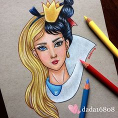 DADA is a multi talented artist who loves drawing with color pencils and is a huge Disney fan. Dada draws Disney character mashups using colored pencils. DADA is… Cute Disney Drawings, Disney Sketches, Cute Drawings, Drawing Sketches, Drawing Disney, Pencil Drawings, Heros Disney, Disney Villains, Disney Characters