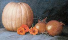 "Harvest II  Oil on Linen 14 x 23""  $2800.00 #artist #oil on #linen #oilpainting #painting #art #Thanksgiving"