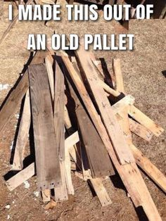Honey, look! - they put your DIY pallet project on Pinterest! You're internet famous!!! *sniff* I'm so proud of you. *sniff*  :D