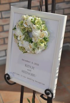 「welcome board photo ideas wedding」の画像検索結果 Wedding Wreaths, Diy Wedding, Wedding Reception, Wedding Flowers, Wedding Ideas, Flower Frame, My Flower, Flower Art, Welcome Boards