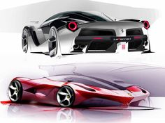 LaFerrari Design Sketches