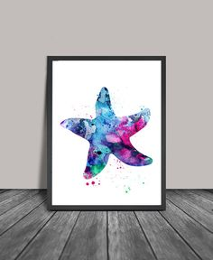 Starfish Watercolor Art Watercolor Painting by FineArtCenter