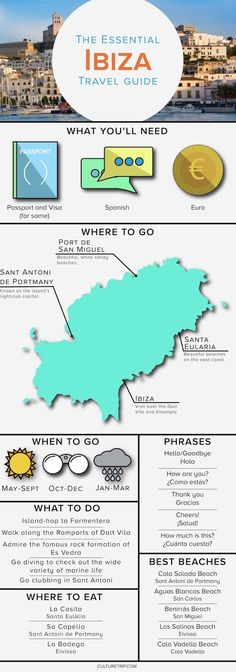 The Essential Travel Guide to Ibiza (Infographic)|Pinterest: @theculturetrip