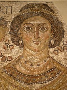 Fragment of a Floor Mosaic with a Personification of Ktisis Byzantine.