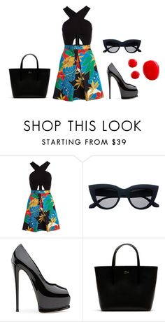 """""""soirée"""" by laupoissant on Polyvore featuring mode, Alice + Olivia et Lacoste"""
