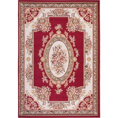 "Astoria Grand Coggrey Medallion Centre Red Area Rug Rug Size: Runner 1'8"" x 7'2"""