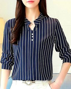 Blouses for women – Lady Dress Designs Blouse Styles, Blouse Designs, Blouses For Women, Women's Blouses, Long Sleeve Blouses, Fashion Dresses, Clothes Uk, Affordable Fashion, Uk Online