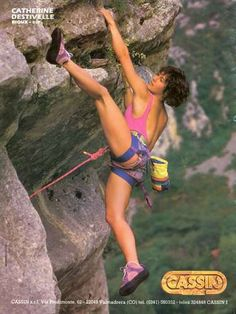 Climbing Girl, Sport Climbing, Catherine Destivelle, Rock Climbing Workout, Bouldering Wall, Rappelling, Outdoor Woman, Extreme Sports, Mountaineering