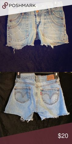Levi Jeans Cutoffs Levi jean shorts. Super flattering on. In great condition worn 2x Levi's Shorts Jean Shorts