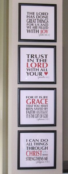 Scripture Wall