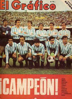 Revista EL GRÁFICO, edición extra ¡ CAMPEÓN! en donde hace alusión al titulo ganado por RACING CLUB DE AVELLANEDA.