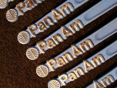 Pan Am Swizzle Stir Sticks Airline Collectible by heritagetrade, $6.50