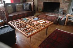 Type Tray Coffee Table- need to find some at an auction & have a place to dispay all my treasures!