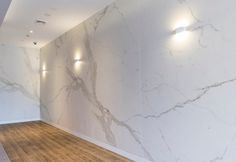 MAXIMUM Calacatta marbled porcelain tiles and panels are made using revolutionary, award-winning, large format porcelain from Graniti Fiandre, Italy.