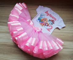 Paw Patrol Skye Tutu Outfit Birthday Tutu Set for baby, pink Paw Patrol Birthday Outfit Personalized Skye Everest and Marshall tutu set Baby Girl Birthday Outfit, Birthday Tutu, Paw Patrol Birthday Girl, Different Shades Of Pink, Tutu Outfits, Baby Tutu, Pink Tulle, Special Birthday, Cute Babies