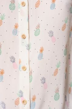Pineapple print blouse in pastel tones Pineapple Pattern, Pineapple Print, Fashion Mode, Fashion Beauty, Quirky Fashion, Textures Patterns, Print Patterns, Visual Kei, Pastell Fashion