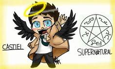 #supernatural castiel TMCDDT art