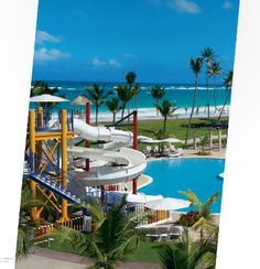 Water slide at Hard Rock in Punta Cana #travel