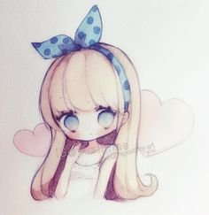 (・□・;)tired...grumpy...bleh. #sakurakoi #watercolor #watercolour #sketch #chibi