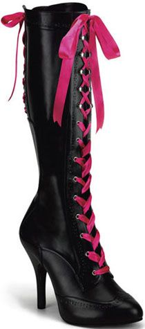 "4 1/2"" Platform Ribbons Knee Boot  (TEMPT-125)"