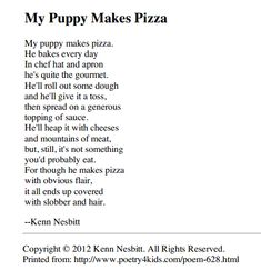 Fun Poems For Kids 1