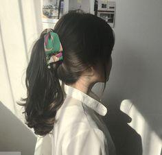 Scarf Hairstyles, Pretty Hairstyles, Girl Hairstyles, Hairstyles 2018, Korean Hairstyles, Korean Hairstyle Long, Fashion Hairstyles, Short Hair Korean Style, Korean Wavy Hair