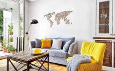 Accente de galben într-un apartament de 50 mp