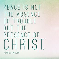 peace with Christ