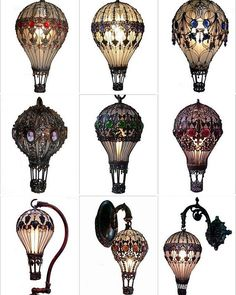 Baroque Hot Air Balloon Light Bulbs                                                                                                                                                                                 More