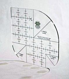 Griglie di Creative Lynne Edwards angolo curvo Patchwork Template Quilting Ruler