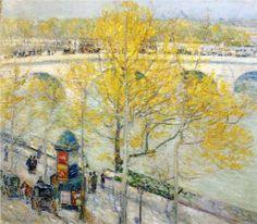 Pont Royal, Paris - Childe Hassam