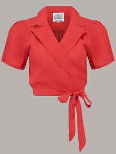 1940s wrap blouse Seamstress of Bloomsbury Vintage Blouses classic elegant style