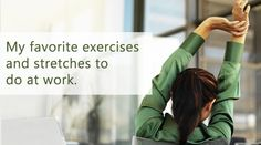 Are you stuck in an #office chair throughout the day and have little to no time to hit the #gym? Now there is no excuse, with these #exercises.