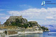St George - stunning views in Corfu, Greece Mykonos, Santorini, Greek History, Greek Culture, Ancient Ruins, Catamaran, Stunning View, Greece Travel, Greek Islands