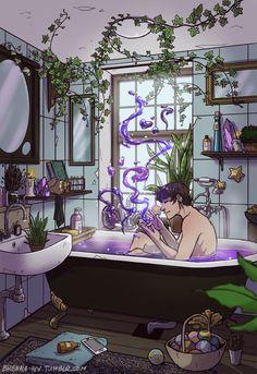 Modern Male Witch Bathroom by brenna-ivy on Tumblr