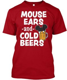 Mouse Ears and Cold Beers funny Disneyland shirt for men vacation trip