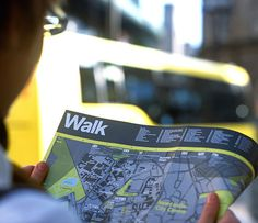 Newcastle WalkRide print map