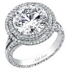Neil Lane 3 Stone Halo Engagement Ring | Neil Lane Engagement Rings for Women