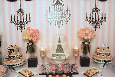Vintage Parisian Bridal/Wedding Shower Party Ideas | Photo 9 of 26 | Catch My Party