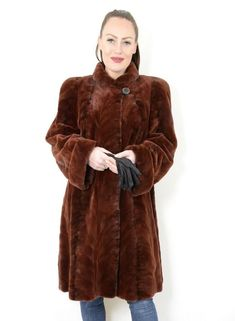 US2300 SHEARED FARMER MINK FUR JACKET COAT LIGHTWEIGHT SIZE XL-2XL - NERZJACKE #Handmade #FurJacket Mink Jacket, Shearing, Mink Fur, Farmer, Fur Coat, Handmade, Jackets, Fashion, Down Jackets
