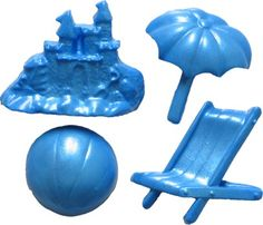 Beach Set Impression Mould 4 cavities $14.00