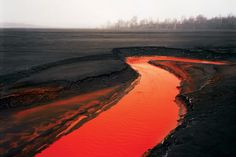 Edward Burtynsky - Nickel Tailings No. 34 (Sudbury, Ontario), 1996 (artstack.com)  +  He has made it his life's work to document humanity's impact on the planet. This image, which is completely unedited, is both beautiful and horrifying.