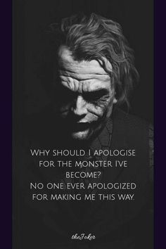 Dark Quotes, Wise Quotes, Mood Quotes, Famous Quotes, Best Joker Quotes, Badass Quotes, Joker Qoutes, Batman Quotes, Monster Quotes