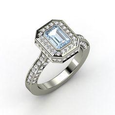 The Savannah Ring #customizable #jewelry #aquamarine #sapphire #gold #ring