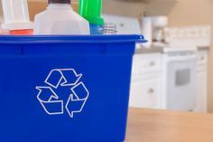 How to create a home recycling center (part of the 52 Weeks to an Organized Home Challenge)