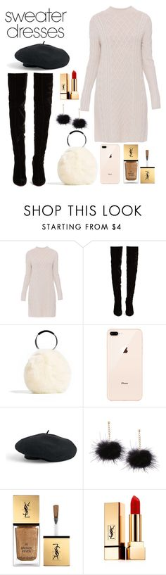 """#sweaterdresses"" by yesselina ❤ liked on Polyvore featuring 'S MaxMara, Christian Louboutin, Venus and Yves Saint Laurent"