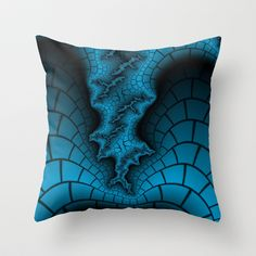 Black and Blue Throw Pillow by Christy Leigh - $20.00