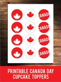 Add a Canada Day Free Printable Cup Cake Topper this holiday season. Canada Day Fireworks, Canada Day Crafts, Canada Day Party, Canada Holiday, Happy Canada Day, Party Themes, Party Ideas, Bbq Ideas, Thinking Day