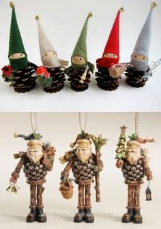 25 cheap and easy diy christmas ornament decor ideas to help you save money 3 # DIY Decorating money Pine Cone Christmas Decorations, Christmas Crafts For Kids To Make, Diy Christmas Ornaments, Simple Christmas, Handmade Christmas, Holiday Crafts, Cheap Christmas, Deco Table Noel, Pine Cone Crafts