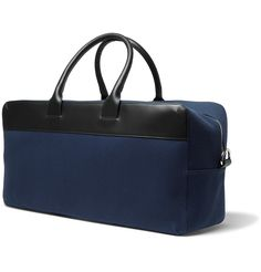 Weekend breaks call for a reliably stylish holdall and <a href='http://www.mrporter.com/Shop/Designers/APC'>A.P.C.</a>'s leather-detailed cotton version typifies the brand's utilitarian refinement. Streamlined in profile but still capacious inside, this sleek piece has your getaway needs sorted.